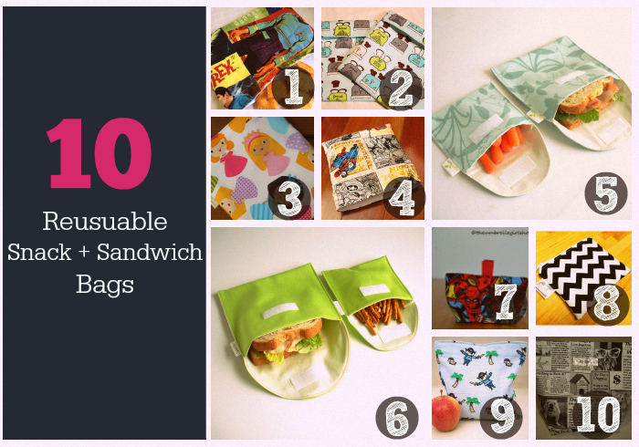 Reusable Snack + Sandwich Bags