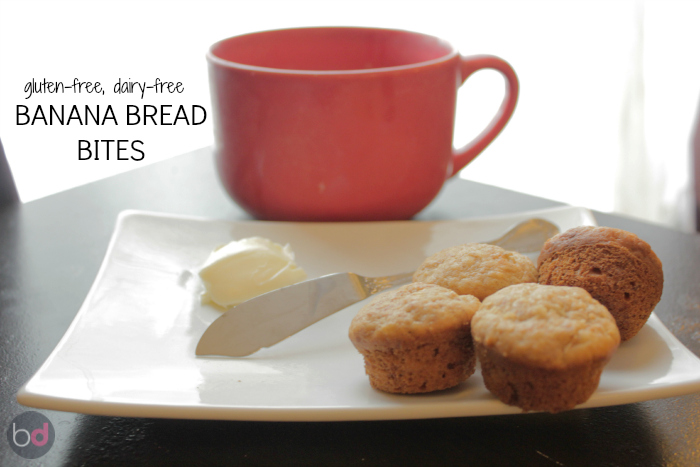 gluten-free dairy-free banana bread bites